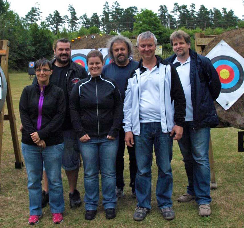 Landkreis Miltenberg - Amorbach - Bogensport - Schulsport-Meisterschaften 2014 - das Betreuerteam
